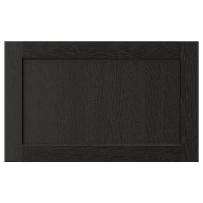 "LERHYTTAN drawer front black stained 24 "" 15 "" 24 "" 14 7/8 "" 3/4 """