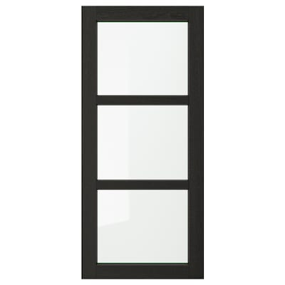 LERHYTTAN Glass door, black stained, 18x40 ""