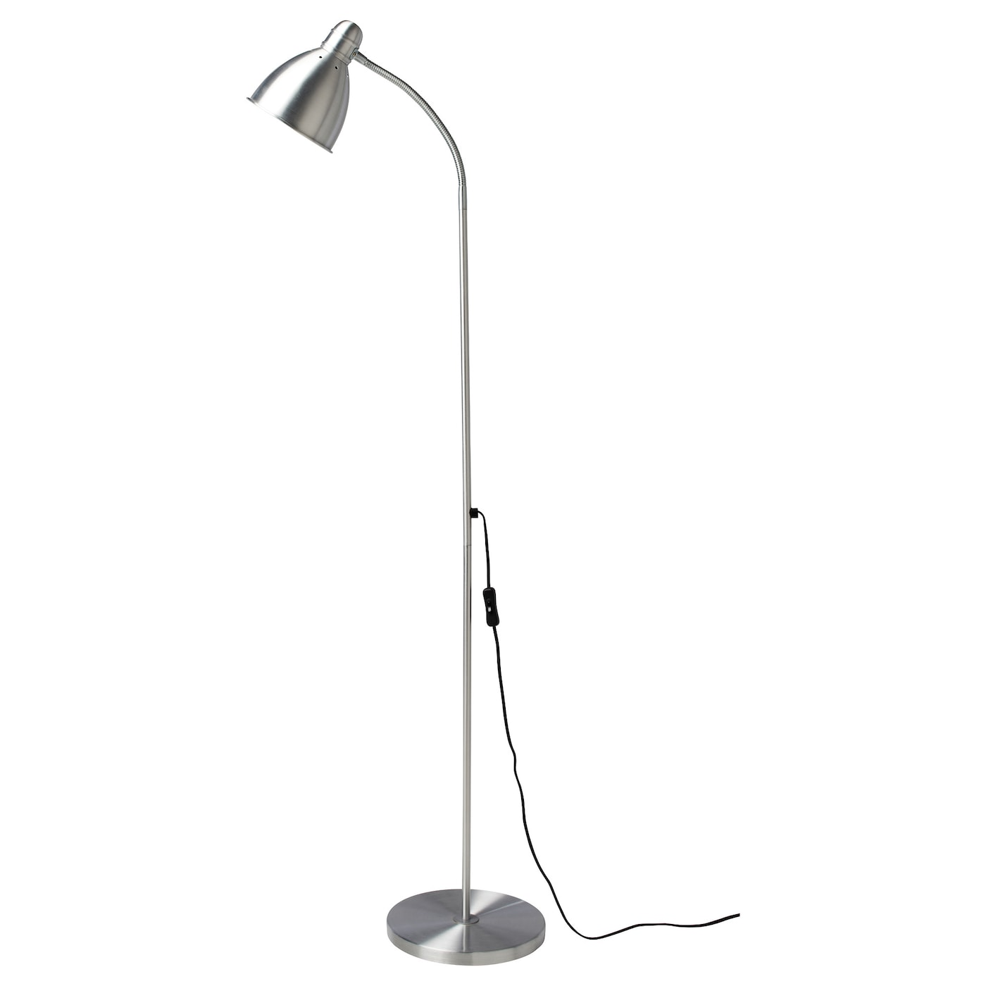 Lersta Floor Reading Lamp With Led Bulb Aluminum Ikea