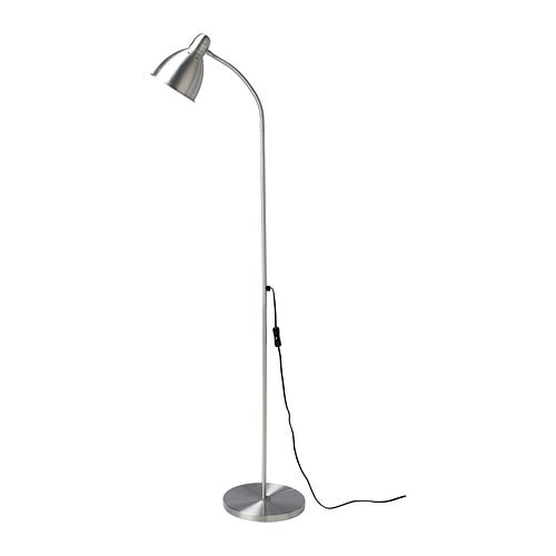 LERSTA Floor/reading lamp with LED bulb, aluminum