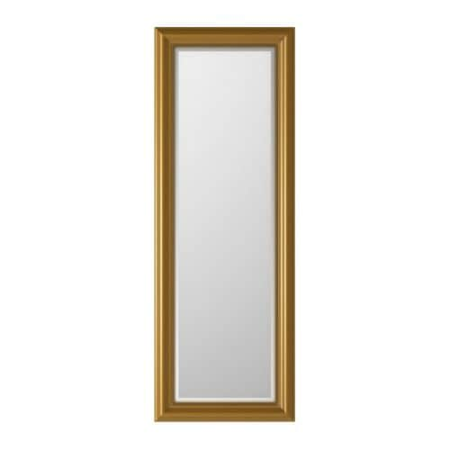 LEVANGER Mirror IKEA The mirror can turn if you choose to mount it with the enclosed hinges.
