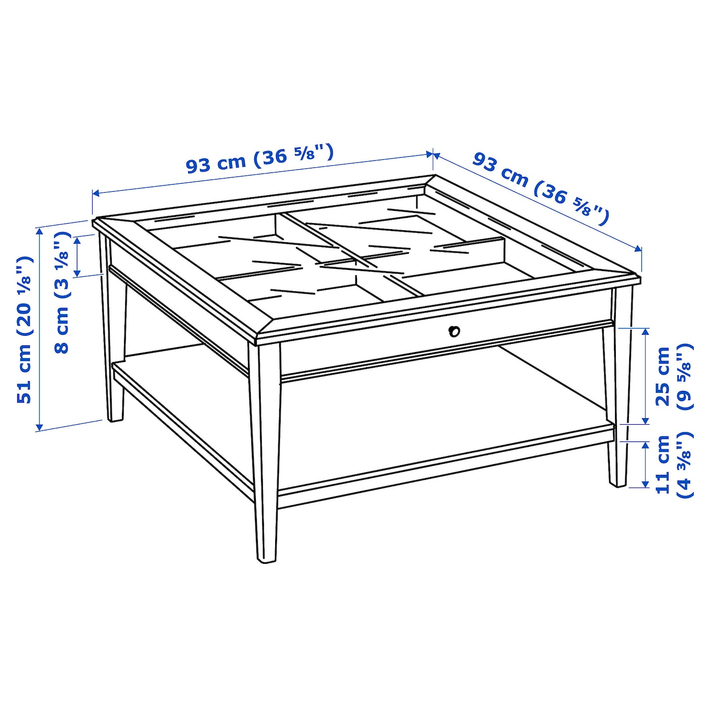 Beau LIATORP   Coffee Table, White, Glass