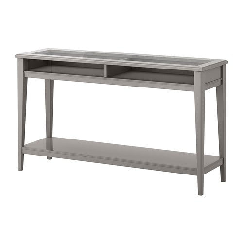 liatorp console table gray glass ikea. Black Bedroom Furniture Sets. Home Design Ideas