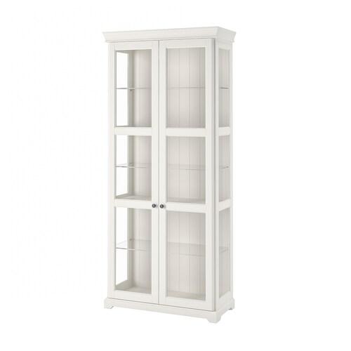 IKEA LIATORP Glass-door cabinet