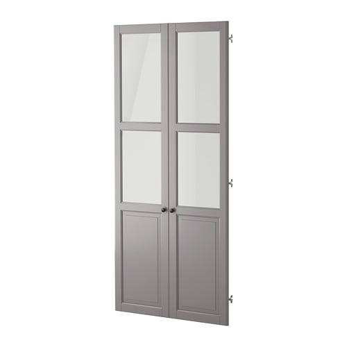 Liatorp panel glass door gray ikea - Vitrine en verre ikea ...