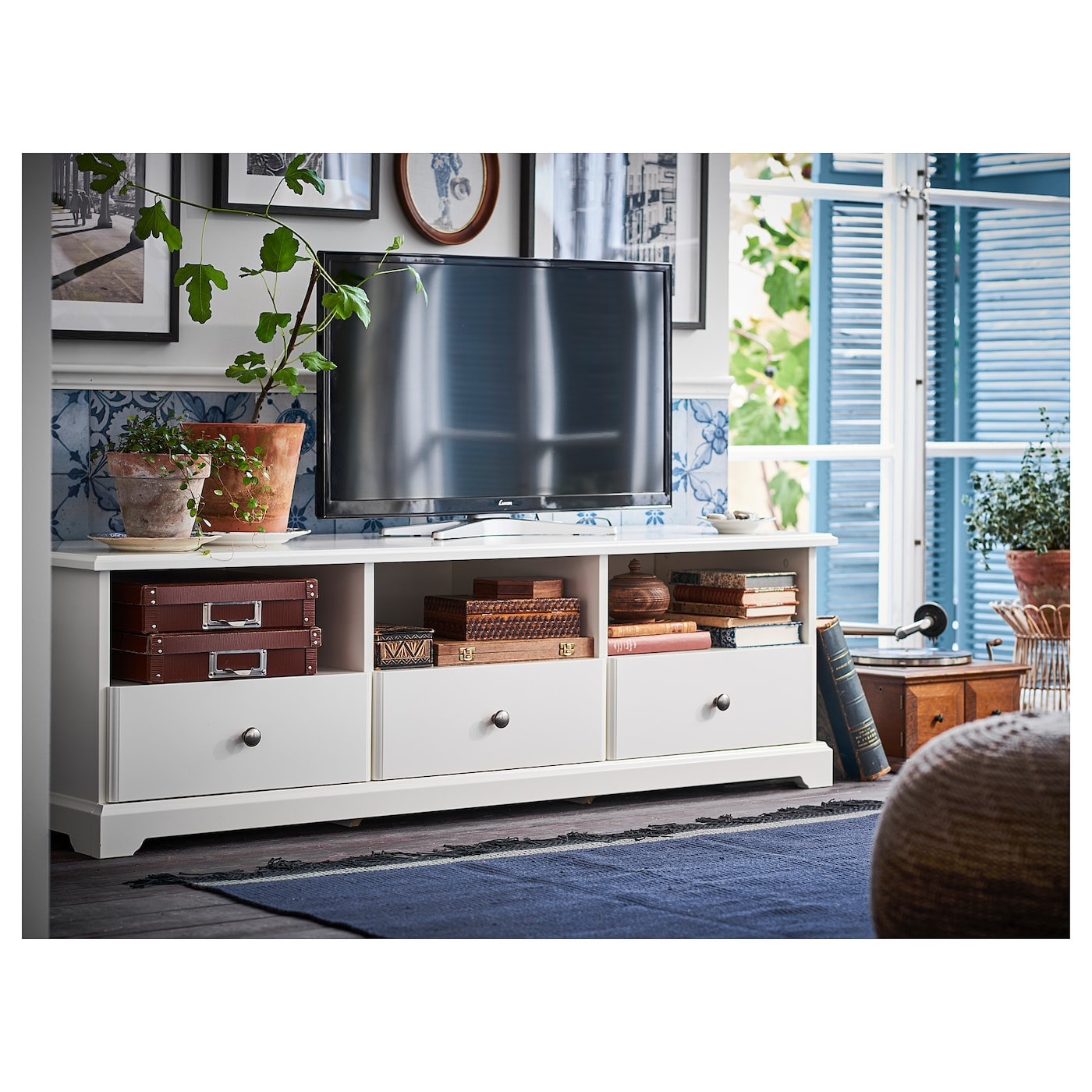 Tv Kast Meubel Ikea.Liatorp Tv Unit White 57 1 8x19 1 4x17 3 4 Ikea