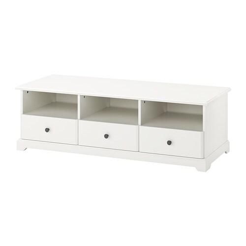 LIATORP TV unit, white white 57 1/8x19 1/4x17 3/4