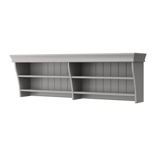 liatorp wall bridging shelf gray ikea