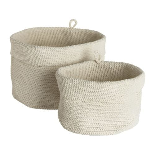 LIDAN Basket, set of 2 white