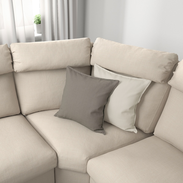 LIDHULT Sectional, 5-seat corner, with open end/Gassebol light beige