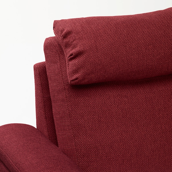 LIDHULT Sectional, 5-seat corner, with open end/Lejde red-brown