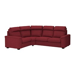 LIDHULT sectional, 4-seat corner, Lejde red-brown red/brown