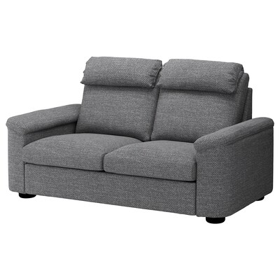 LIDHULT Sleeper sofa, Lejde gray/black