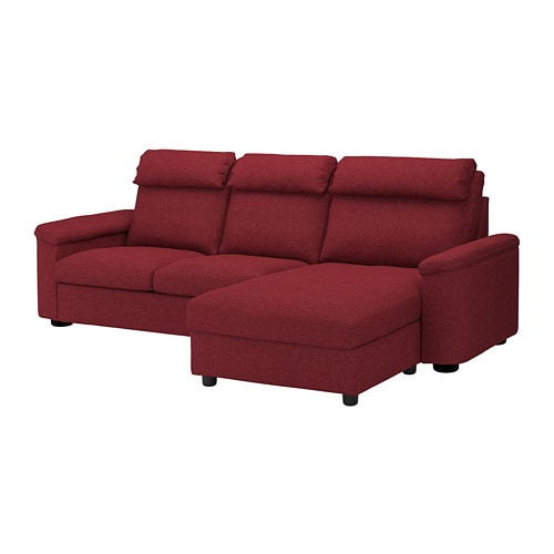 LIDHULT Sofa - with chaise/Lejde red-brown - IKEA