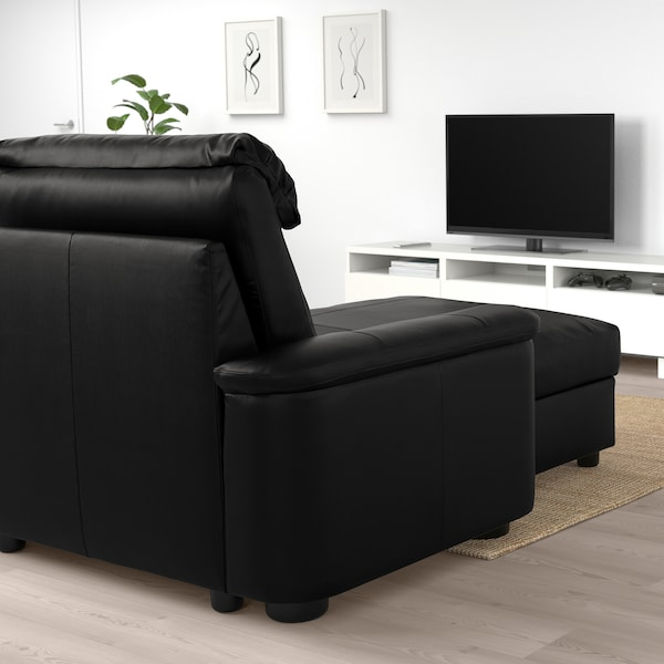 LIDHULT Sofa, with chaise/Grann/Bomstad black