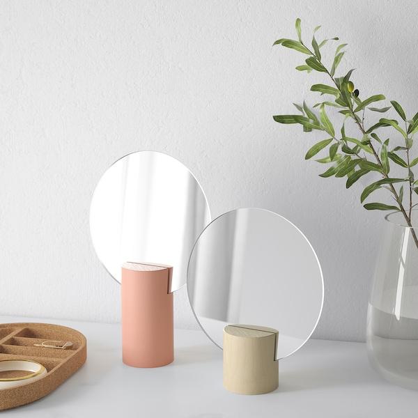 LIHOLEN Mirror, set of 2, pink/aspen