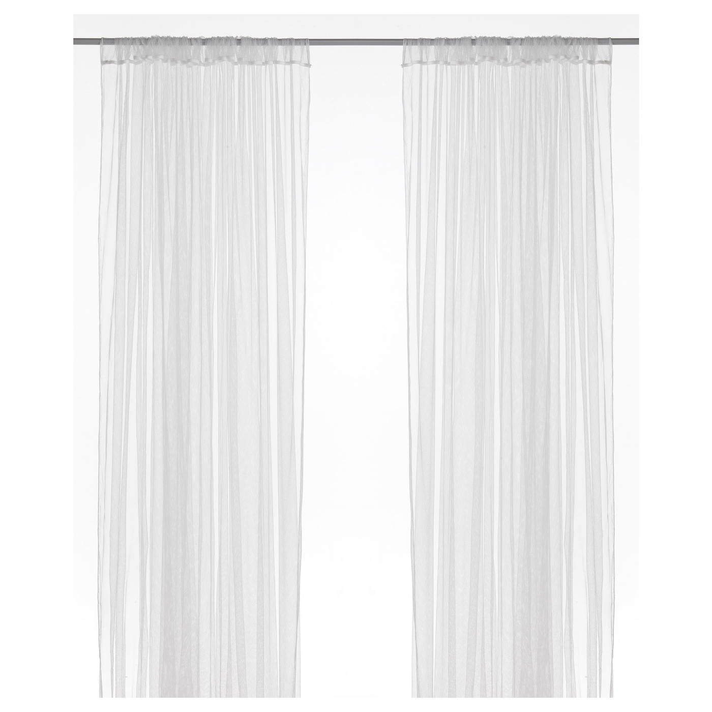 LILL Lace curtains, 1 pair - white - IKEA
