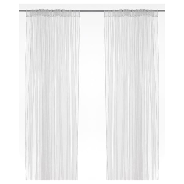 """LILL Lace curtains, 1 pair, white, 110x98 """""""