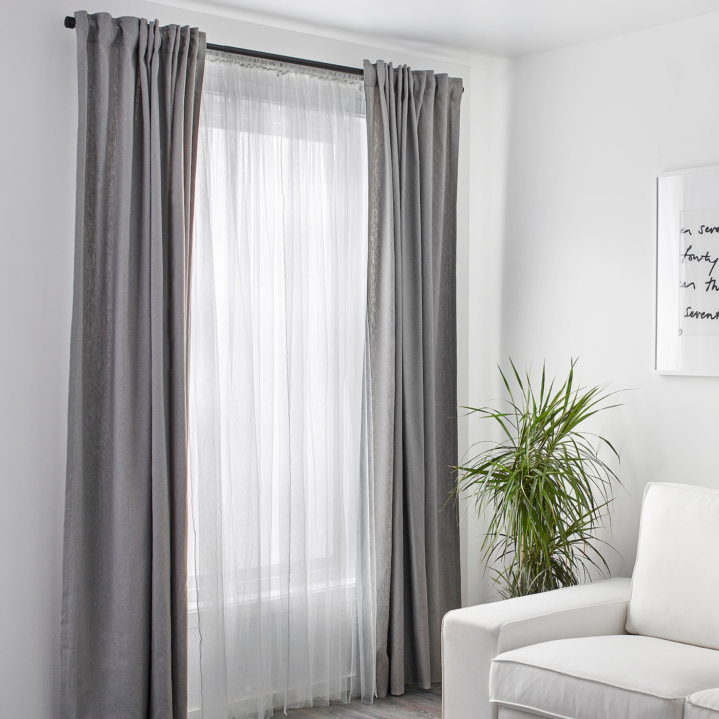 Lill Lace Curtains 1 Pair White Ikea