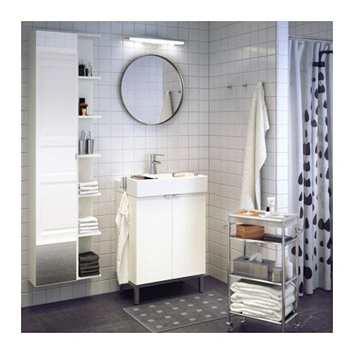 LILLÅNGEN High cabinet with mirror door - black-brown - IKEA