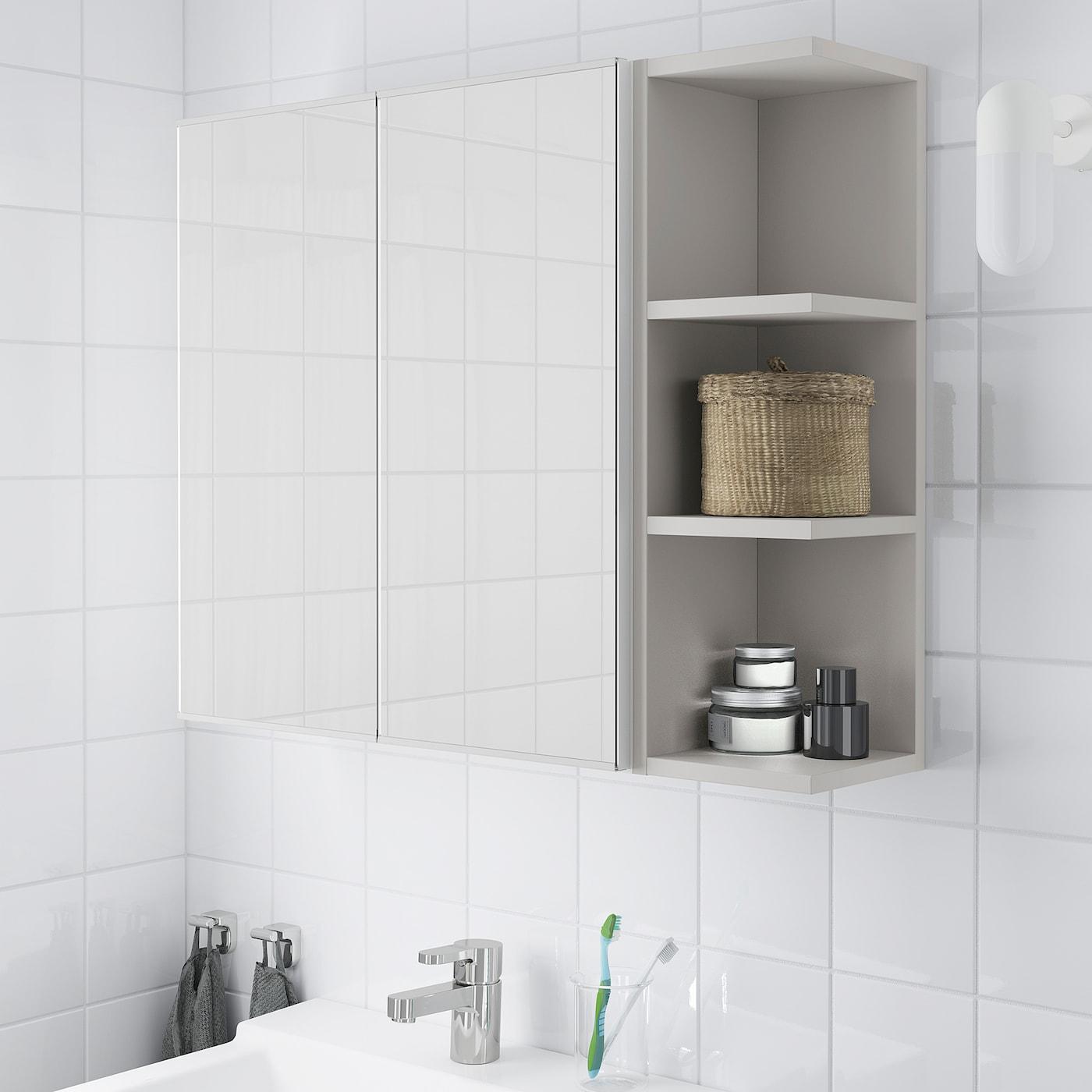 Lillangen Mirror Cabinet 2 Doors 1 End Unit White Gray 31 1 8x8 1 4x25 1 4 Ikea