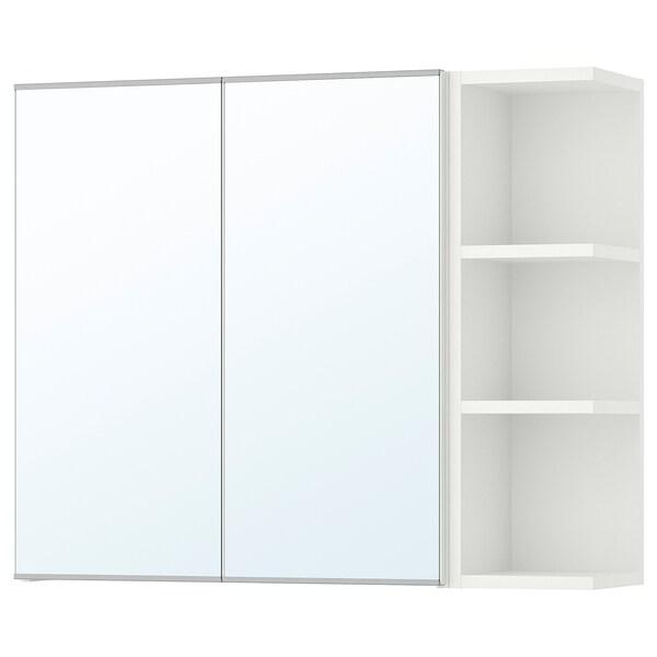 """LILLÅNGEN Mirror cabinet 2 doors/1 end unit, white, 31 1/8x8 1/4x25 1/4 """""""