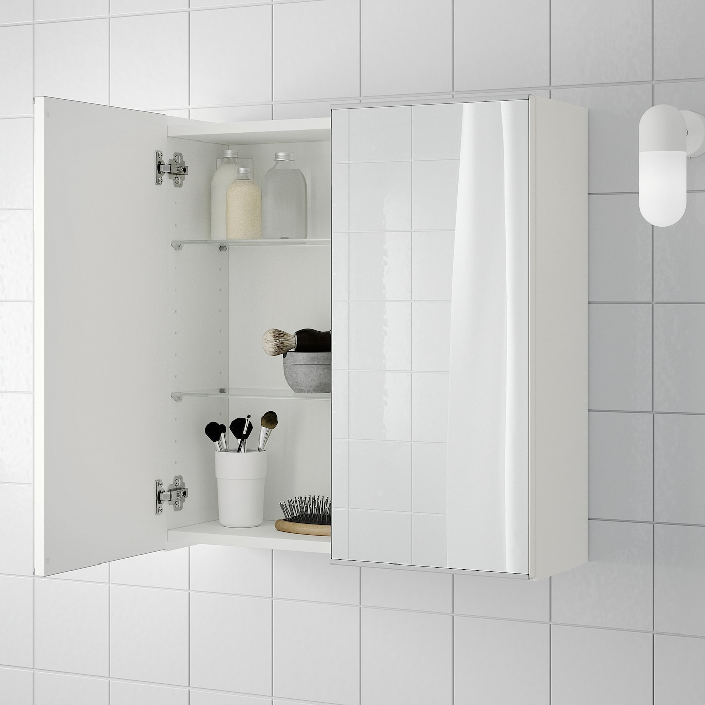 "LILLÅNGEN Mirror cabinet with 5 doors - white 53 5/5x5 5/5x55 5/5 """
