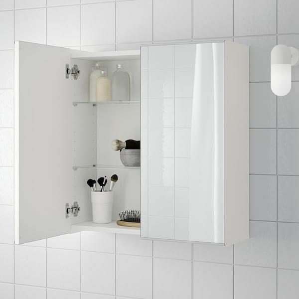LILLÅNGEN Mirror cabinet with 2 doors - white - IKEA