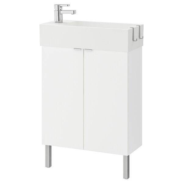 "LILLÅNGEN Sink cabinet with 2 doors, white/Ensen faucet, 24 3/8x10 5/8x36 5/8 """