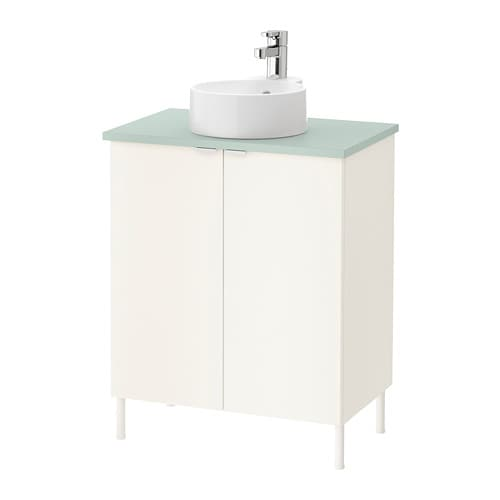 Lillangenviskan Gutviken Sink Cabinet With 2 Doors White Pale - Which-type-of-bathroom-sink-is-right-for-you