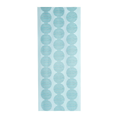 LILLERÖD Panel curtain , turquoise Length: 118