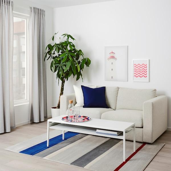 "LILLEVORDE rug, low pile gray/multicolor 6 ' 5 "" 4 ' 4 "" ½ "" 27.88 sq feet 6.16 oz/sq ft 2.23 oz/sq ft ¼ """