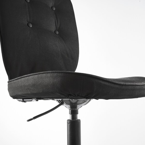 "LILLHÖJDEN swivel chair Idemo black 242 lb 8 oz 27 1/2 "" 27 1/2 "" 41 3/4 "" 17 3/8 "" 17 3/8 "" 16 1/8 "" 20 1/2 """