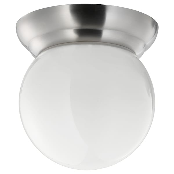 Ceiling Wall Lamp Lillholmen Nickel Plated White