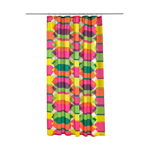 LILLSKÄR Shower curtain IKEA Densely-woven polyester fabric with water-repellent coating.