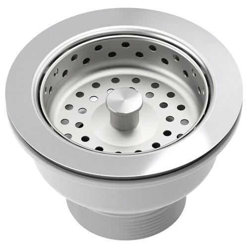 "LILLVIKEN sink strainer with stopper 3 1/8 "" 4 3/8 """