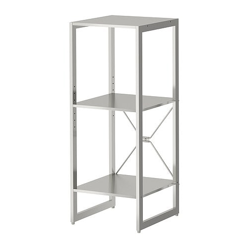 LIMHAMN Shelving unit IKEA Shelf in stainless steel; hygienic, strong and durable surface that is easy to clean.