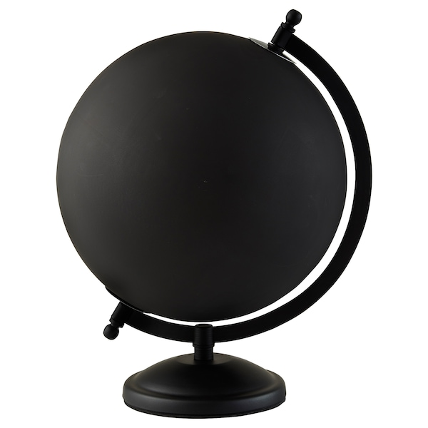 LINDRANDE Decoration, earth globe black, 11 ""