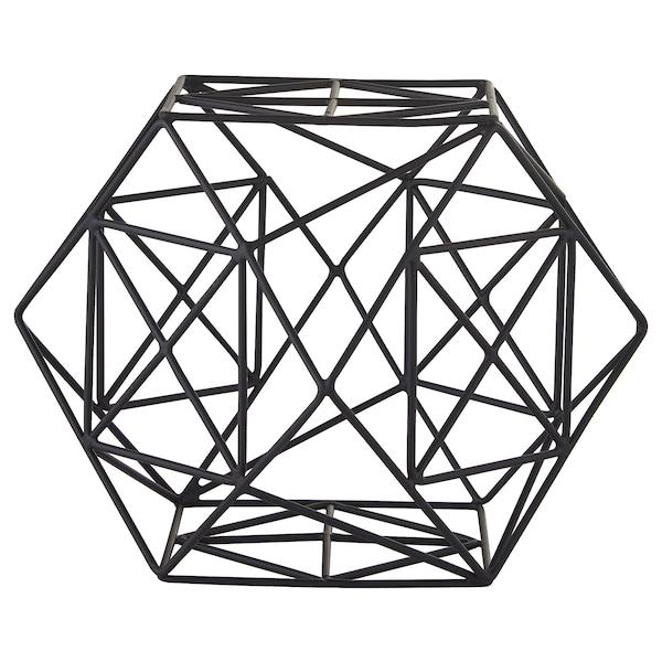 "LINDRANDE Decoration, hexagonal black, 6 """