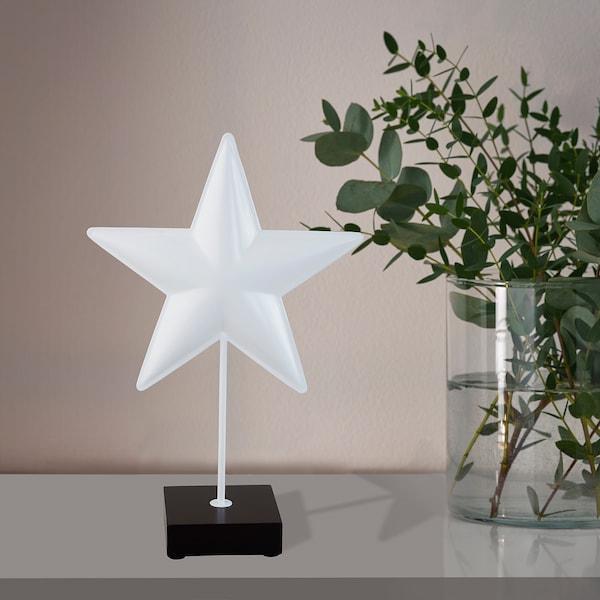 "LINDRANDE Decoration, star white, 14 ¼ """