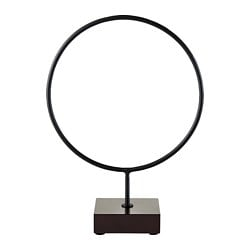 LINDRANDE decoration, circle black