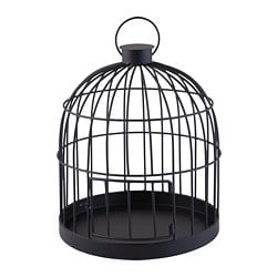 LINDRANDE decoration, cage black