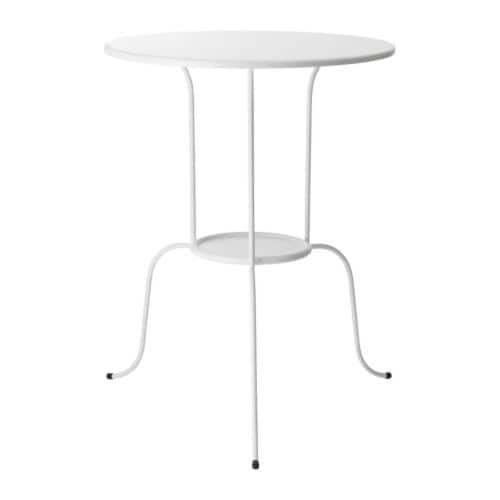 LINDVED Side table, white white 20x26 3/4