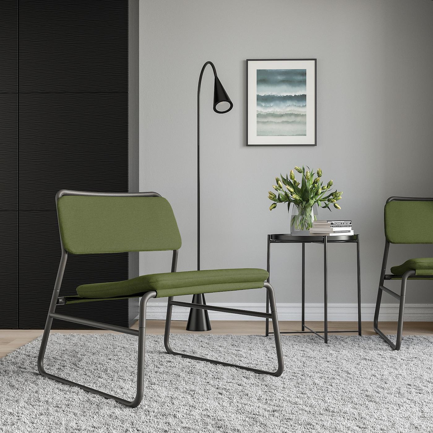 LINNEBÄCK Chair, Orrsta olive-green