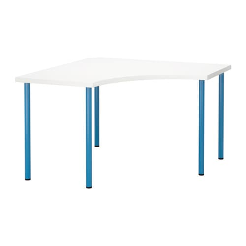linnmon adils corner table white blue ikea. Black Bedroom Furniture Sets. Home Design Ideas