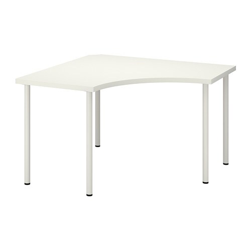 LINNMON / ADILS - Corner table, white