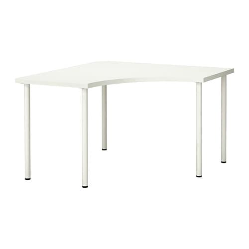 Linnmon Adils Corner Table White Ikea