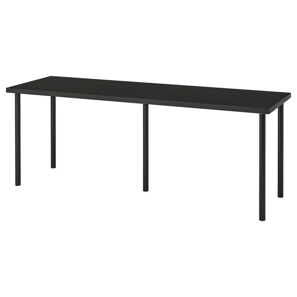LINNMON / ADILS Table, black-brown/black, 78 3/4x23 5/8 ""
