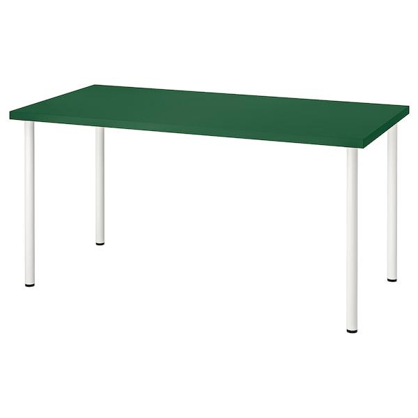"LINNMON / ADILS Table, green/white, 59x29 1/2 """