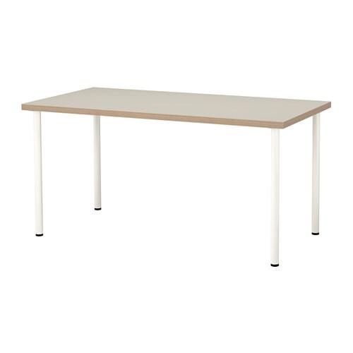 linnmon adils table beige white ikea. Black Bedroom Furniture Sets. Home Design Ideas